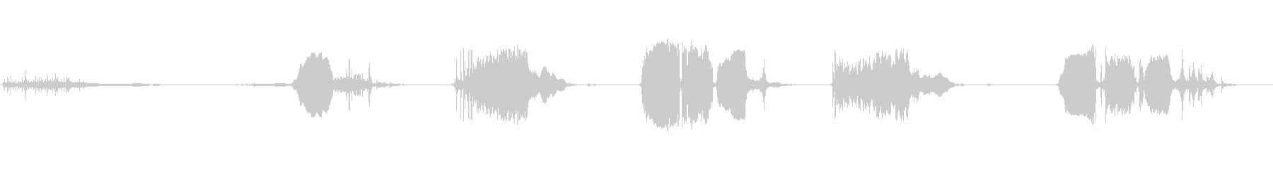 ドアメタルゲートスクリーチの未再生の波形