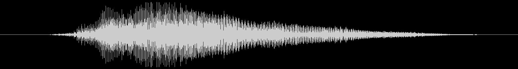 鳴き声 男性の痛みを伴う叫び10の未再生の波形