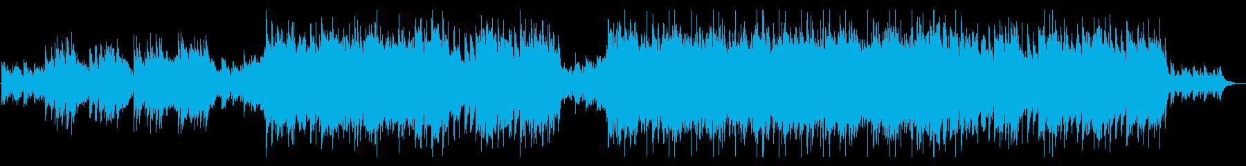霧深いミステリアスなアコギメイン曲の再生済みの波形