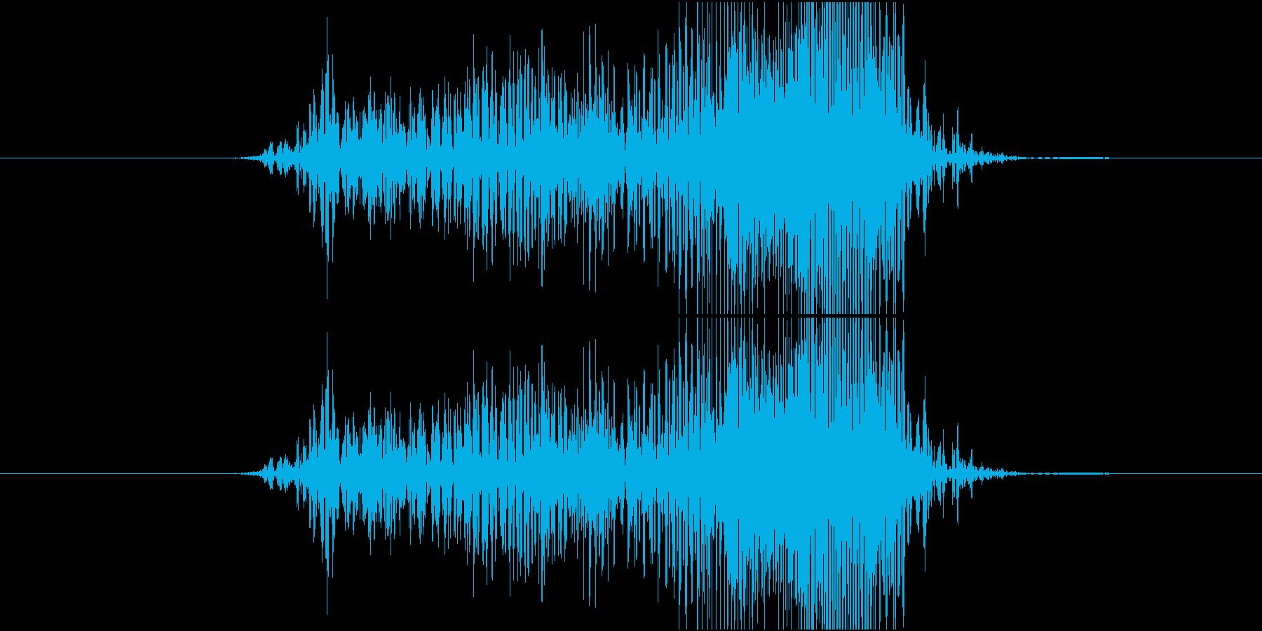 ジッパー開ける音(ジャアア)の再生済みの波形