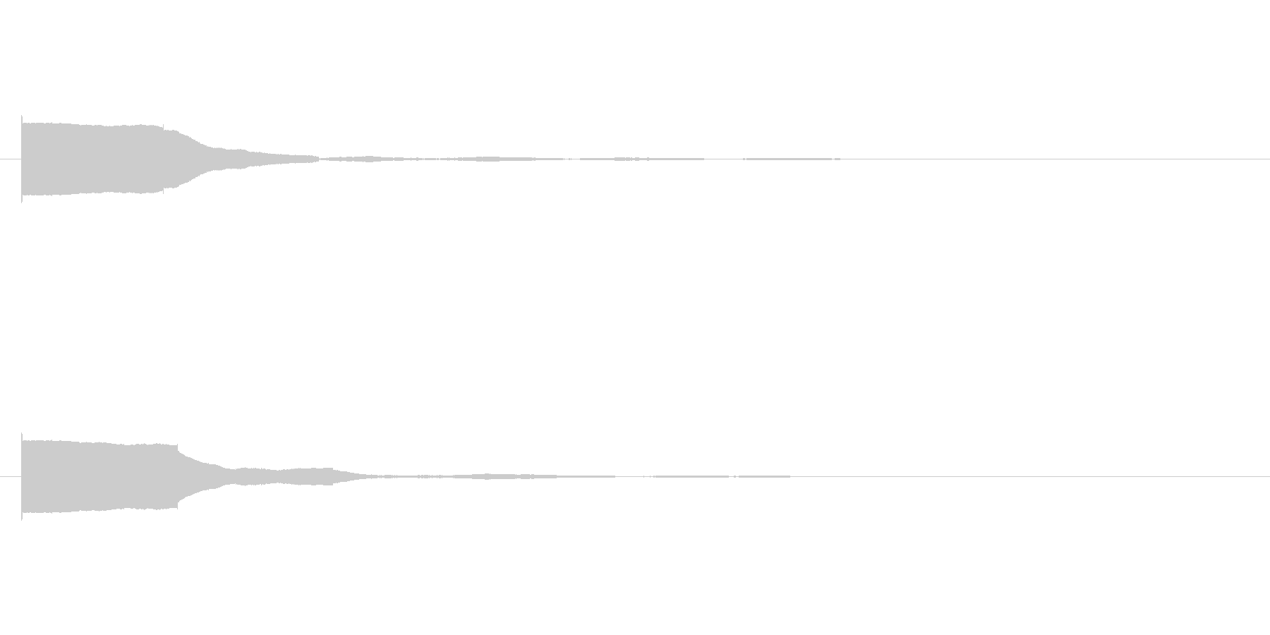 「ポン」というシンプルな音ですの未再生の波形