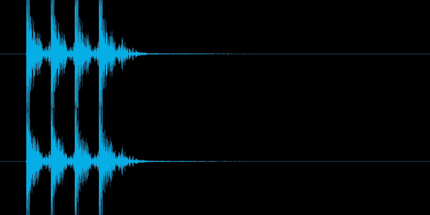どんどんどん(薄い木のドアを叩く音)の再生済みの波形