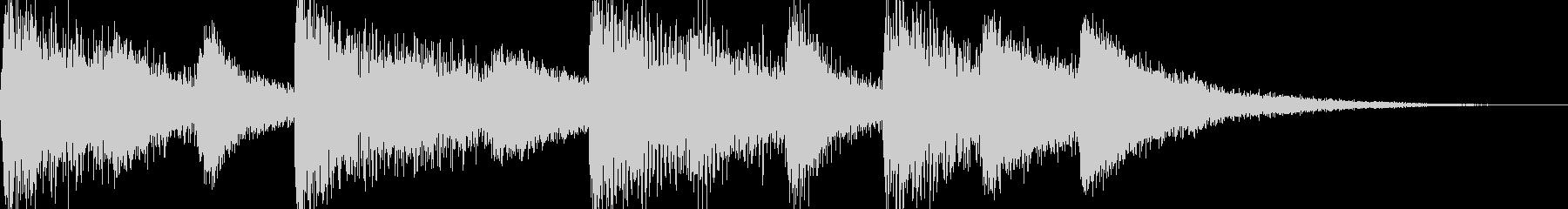 シンプルなジングル【ピアノ】その9です。の未再生の波形