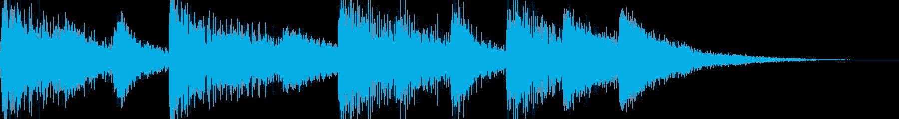 シンプルなジングル【ピアノ】その9です。の再生済みの波形
