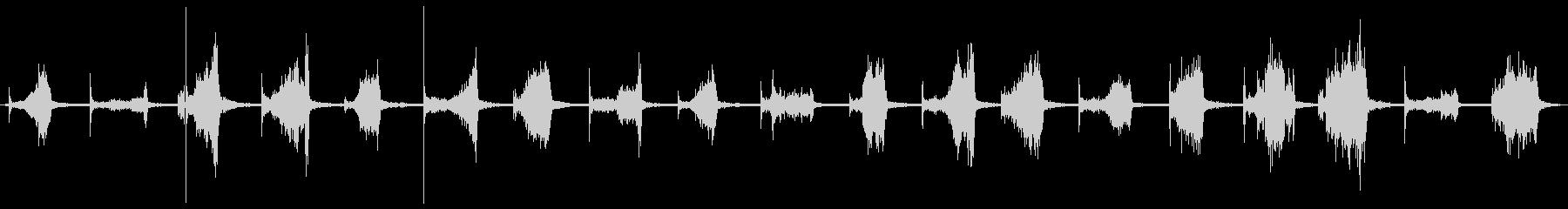 ストレートカミソリ:革または石のシ...の未再生の波形
