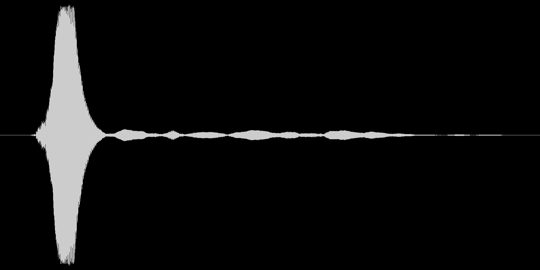 ピッ というシステム音の未再生の波形