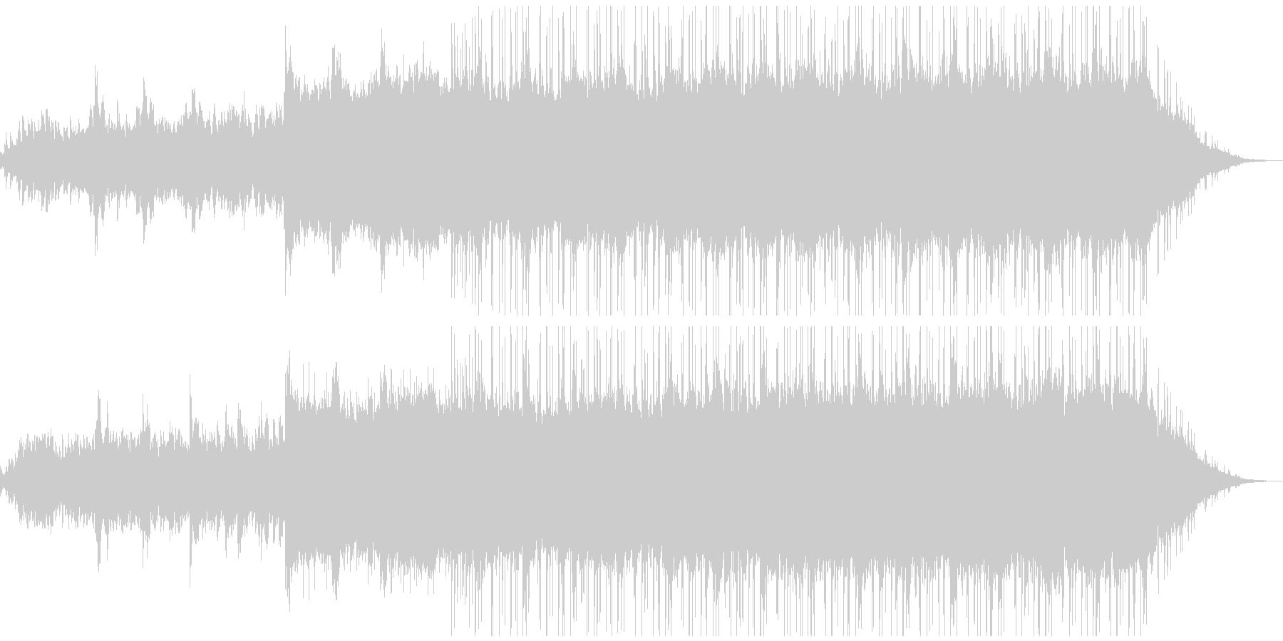 ラウンジ向きのゆったりしたピアノBGMの未再生の波形