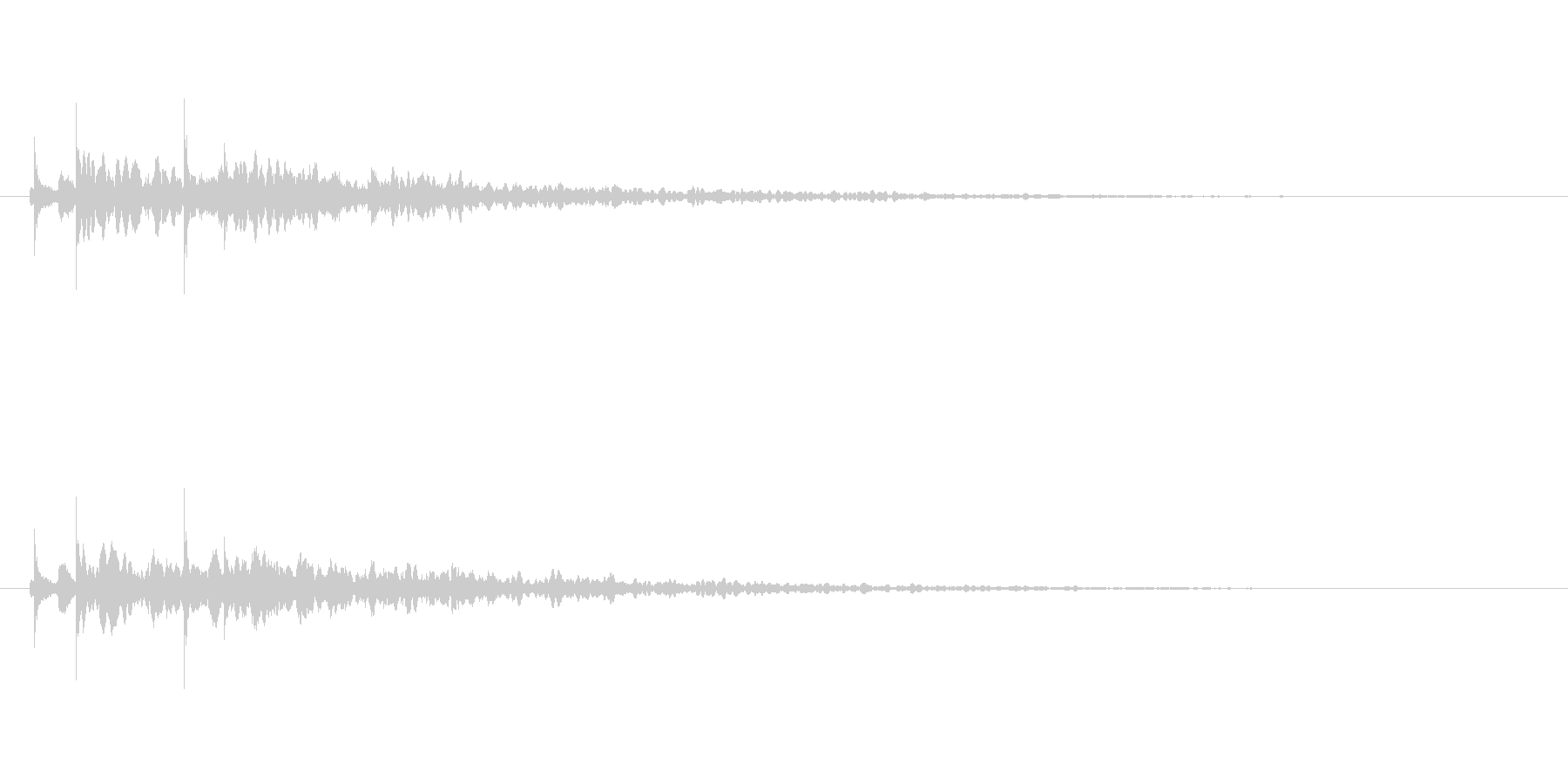 【アクセント37-1】の未再生の波形