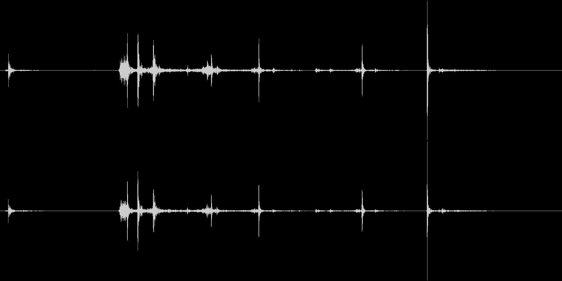 【生録音】カッターナイフの音 11の未再生の波形