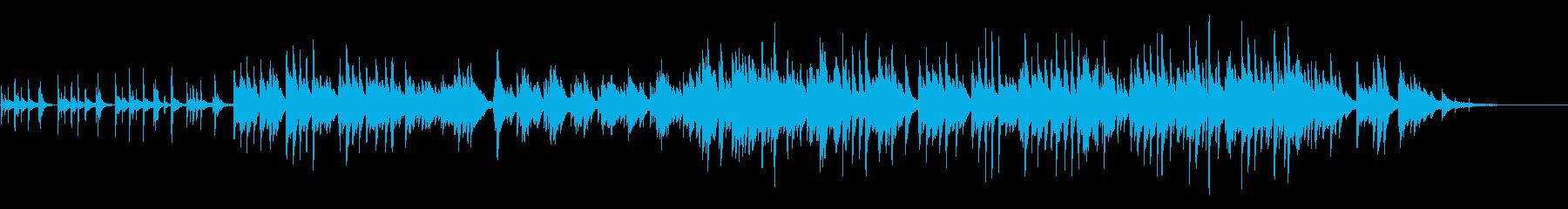 ピアノが歌うバラードの再生済みの波形