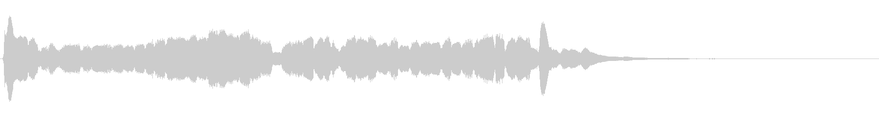 左右に振るようなキラキラエフェクト音の未再生の波形