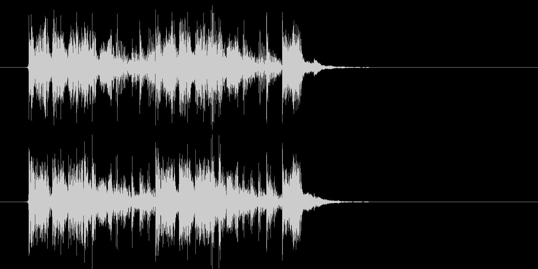 何かを追跡しているようなシンセ曲の未再生の波形