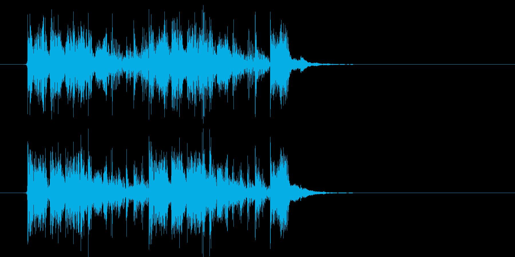 何かを追跡しているようなシンセ曲の再生済みの波形