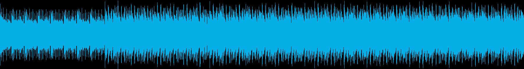 おしゃれなピアノのループ曲の再生済みの波形