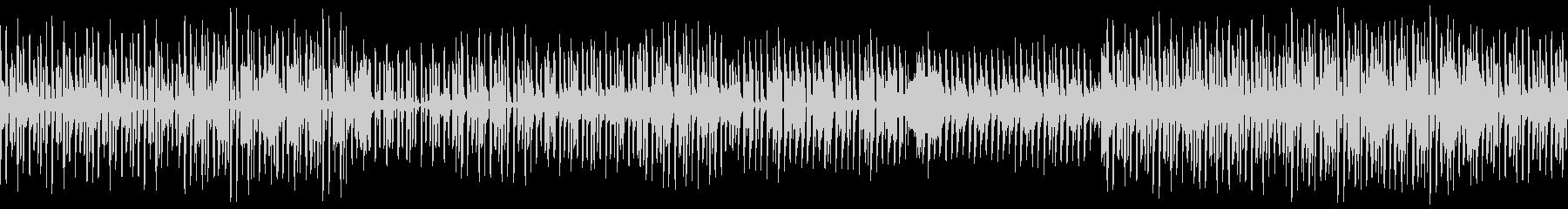 ソリッドな印象のレトロテクノBGMの未再生の波形