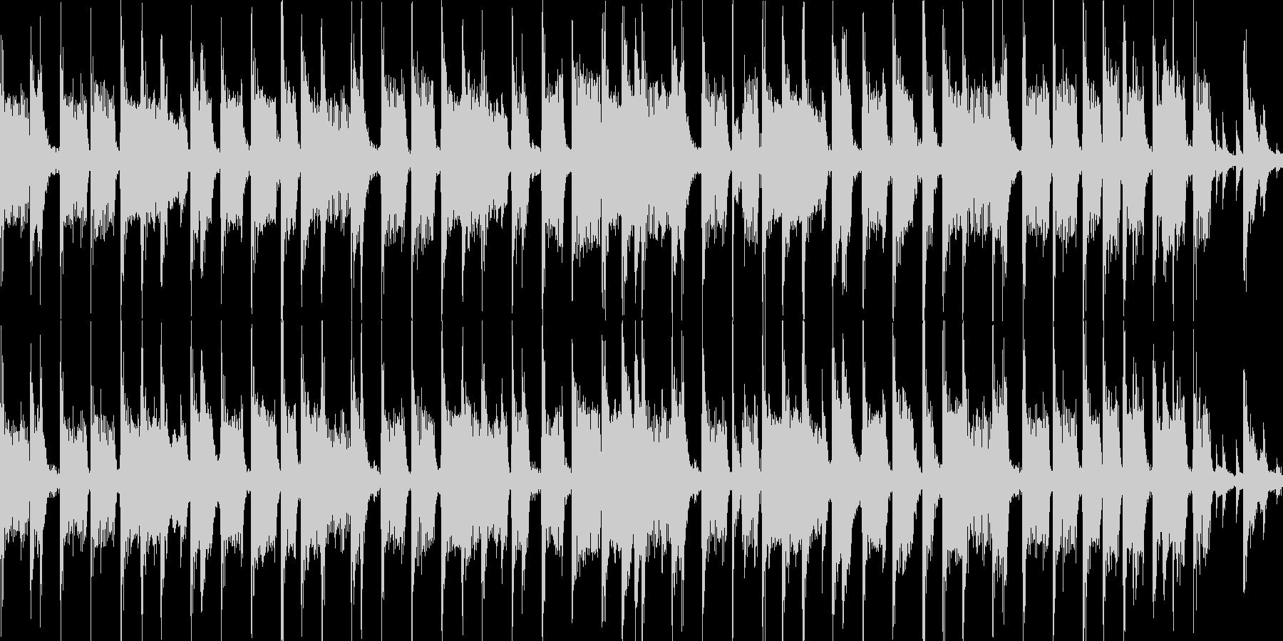 パズルゲームメニュー画面(ループ仕様)の未再生の波形