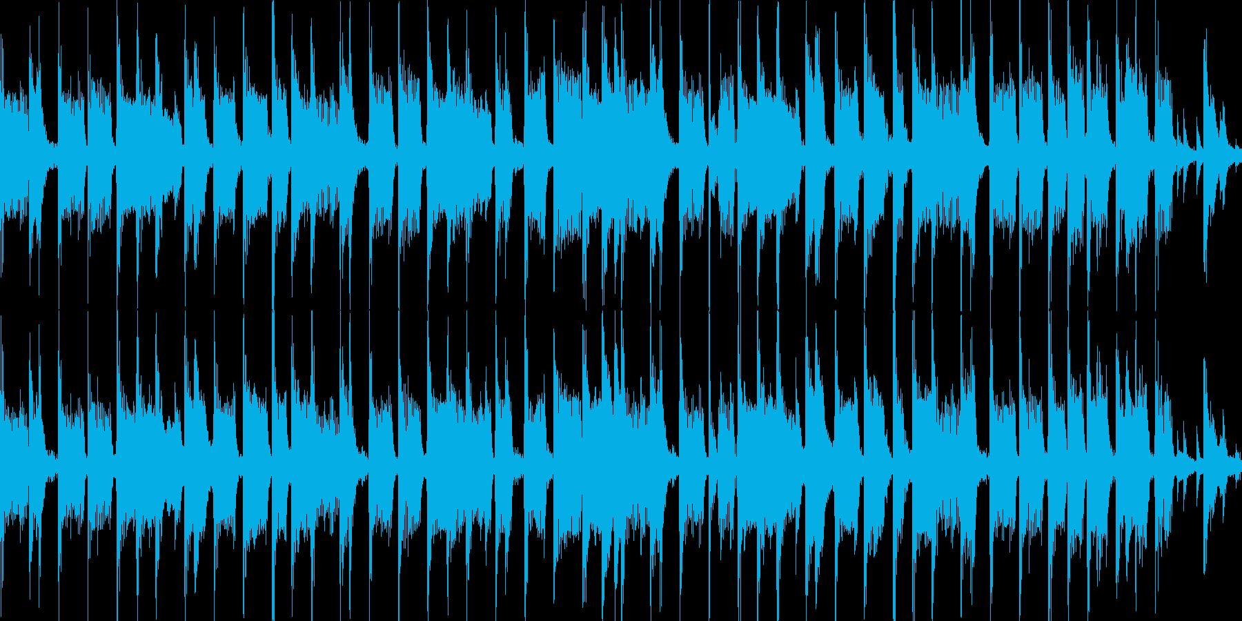 パズルゲームメニュー画面(ループ仕様)の再生済みの波形