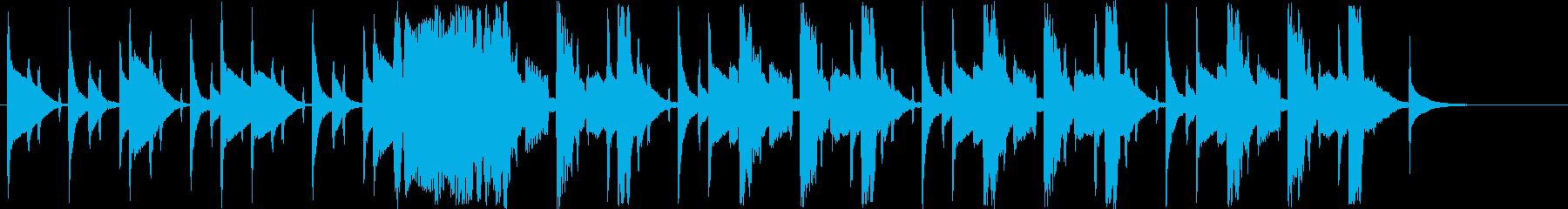 どきどき感のシンセサイザー短めジングルの再生済みの波形