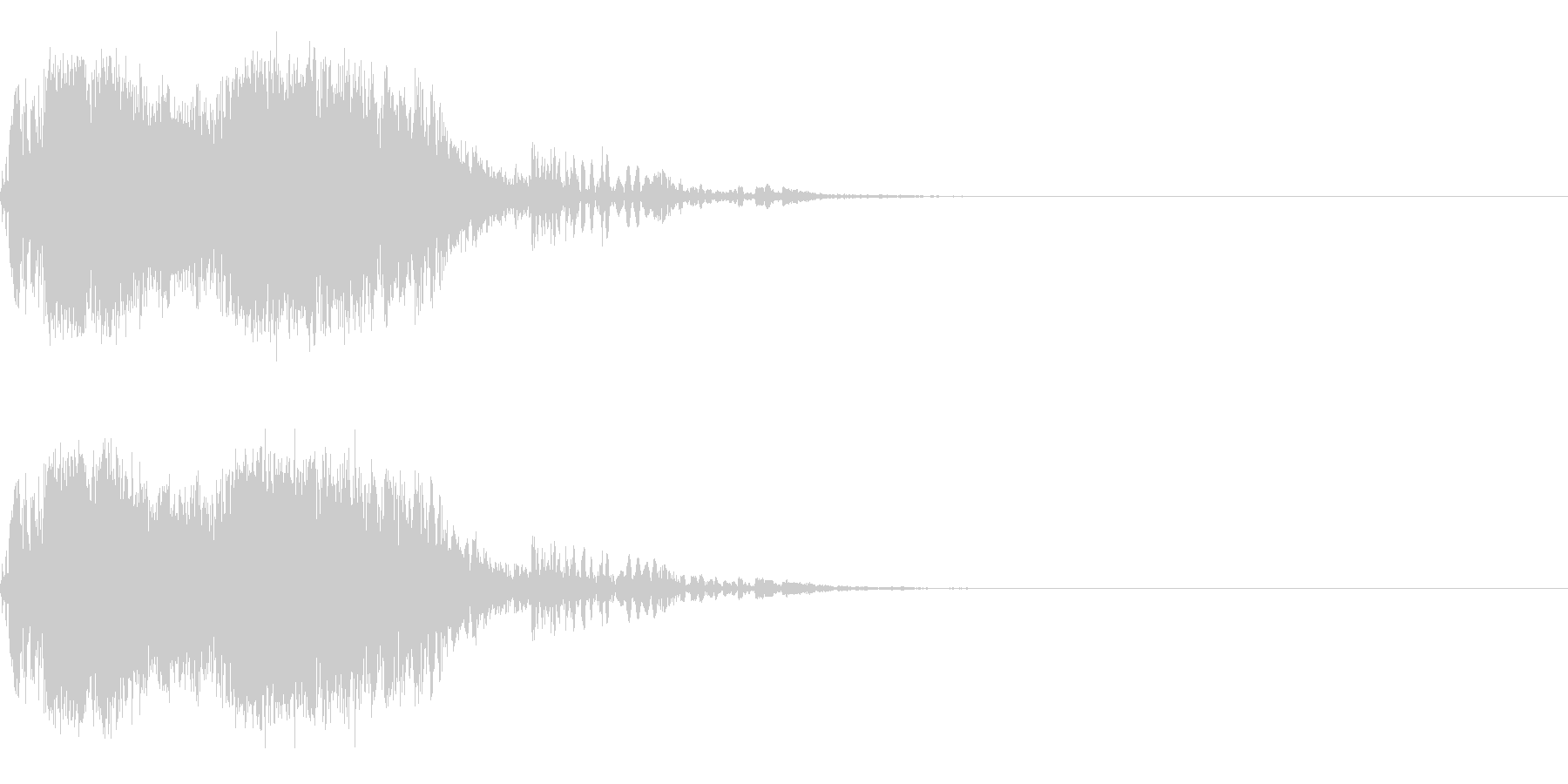 スパーク音-13の未再生の波形