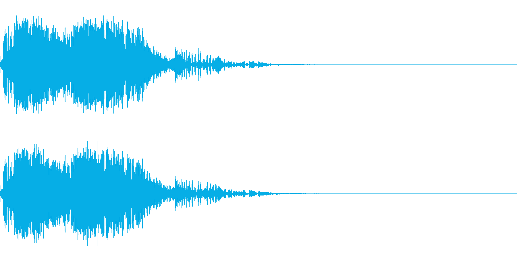 スパーク音-13の再生済みの波形