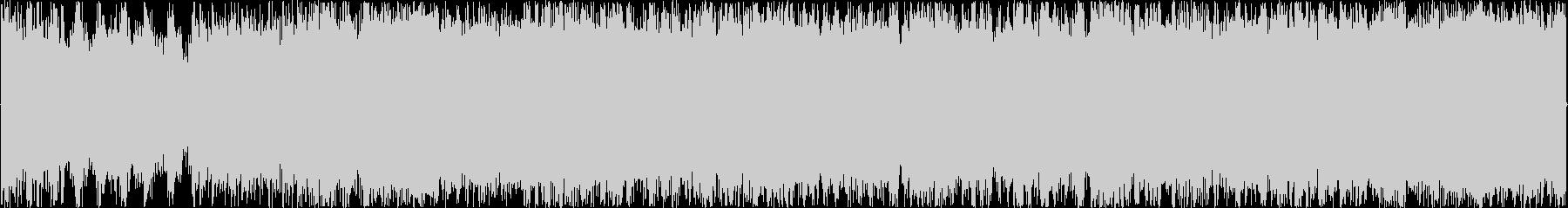 荒野を駆け抜けるイメージのBGMの未再生の波形