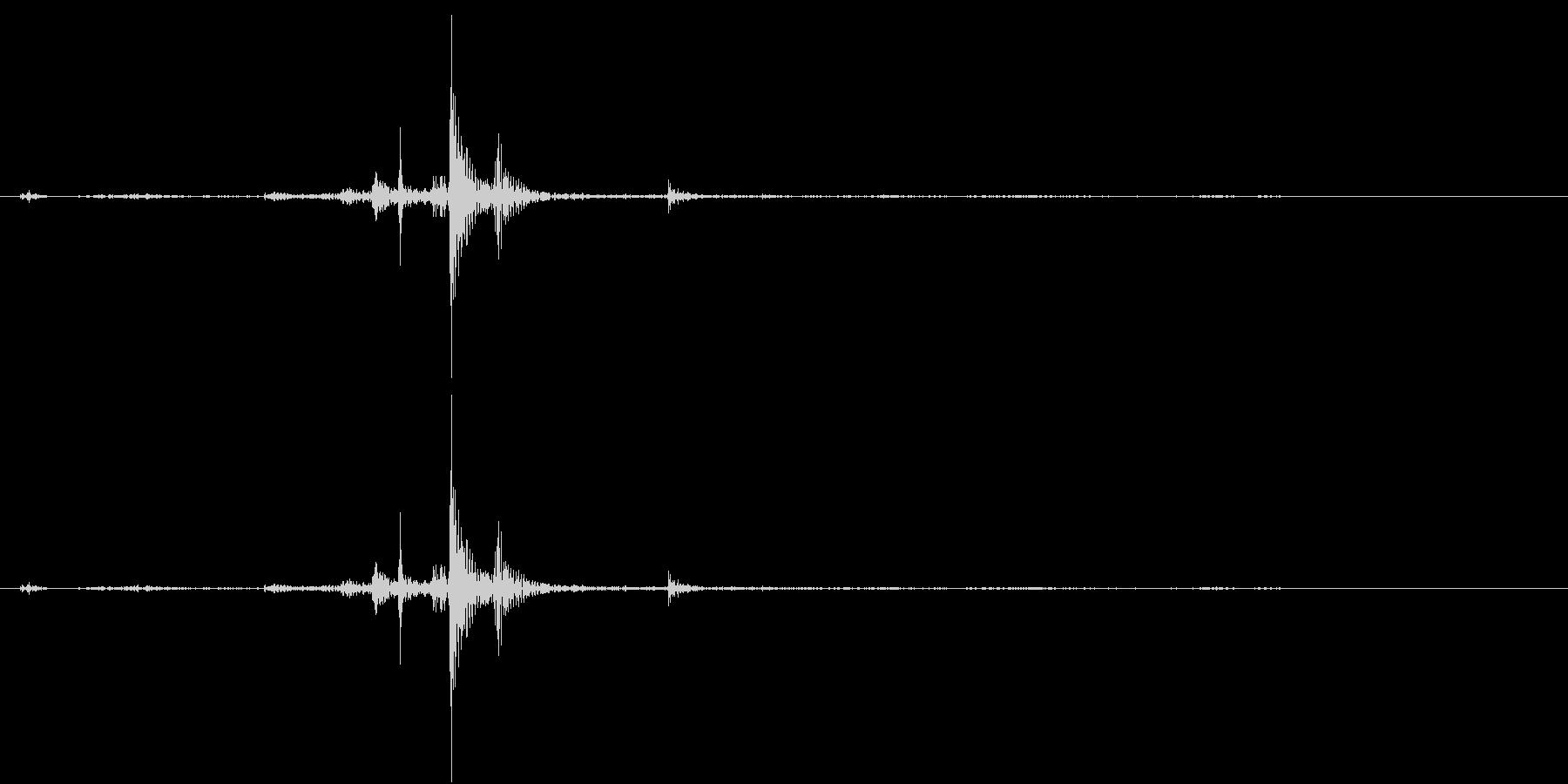 卵の殻が割れる音 噛む音の未再生の波形