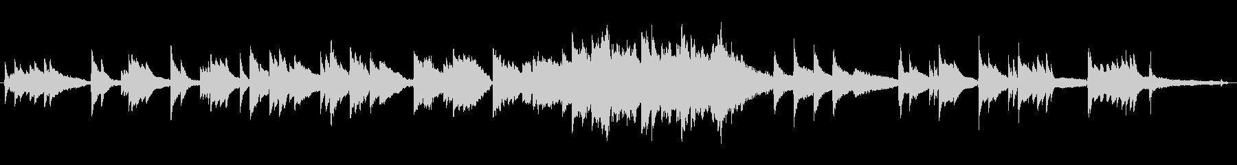 ピアノとオーケストラの感動的な曲の未再生の波形
