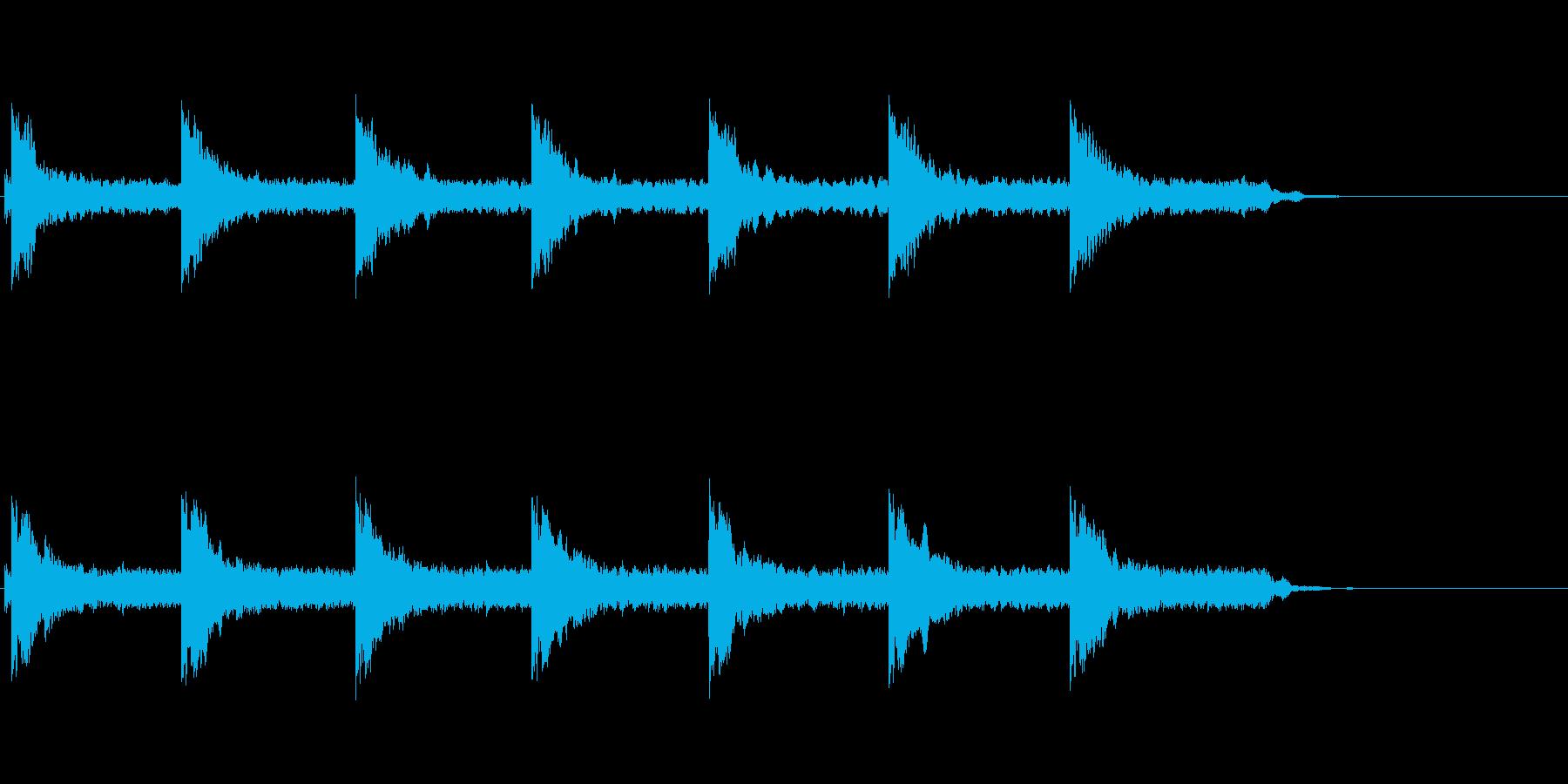 歩いているような怖い三味線の音の再生済みの波形