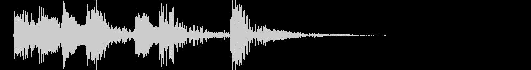 ピアノによるスピーディーで明るいジングルの未再生の波形