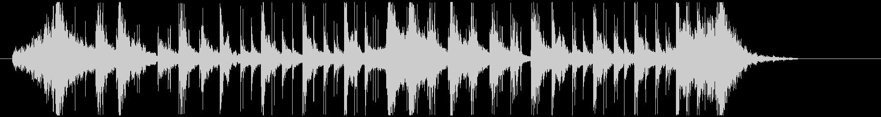ノリノリなリズム&パーカッションロゴの未再生の波形
