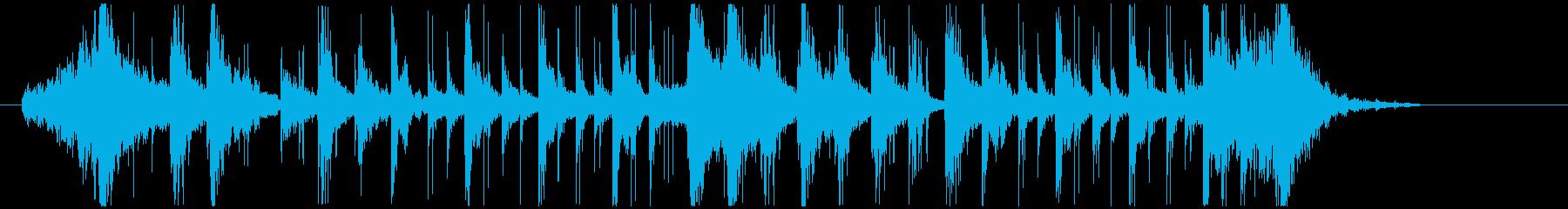 ノリノリなリズム&パーカッションロゴの再生済みの波形