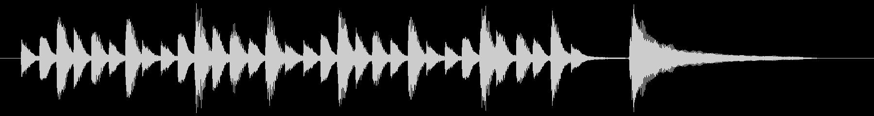 コミカルでほのぼのとしたピアノ曲の未再生の波形