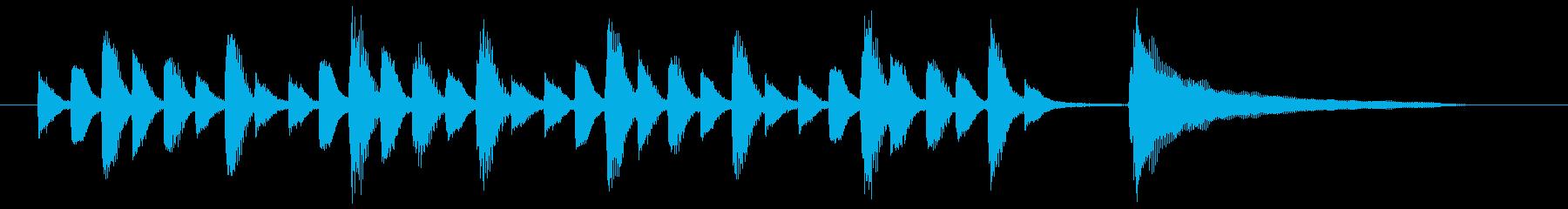 コミカルでほのぼのとしたピアノ曲の再生済みの波形