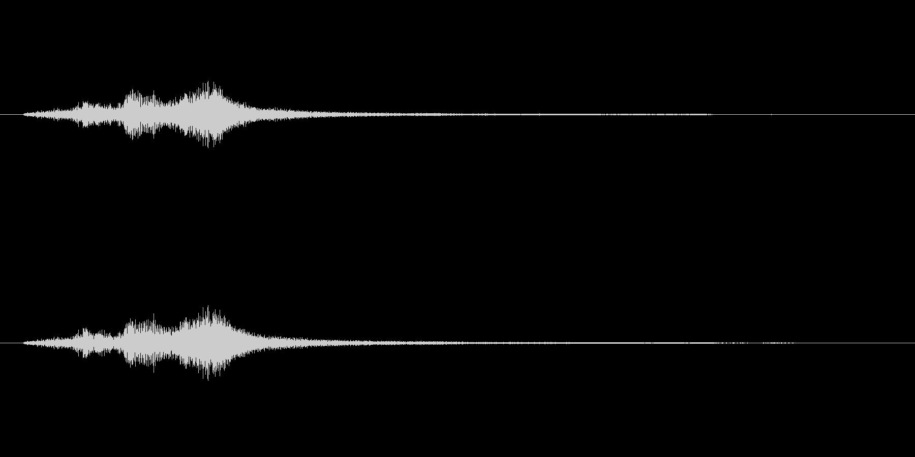 ハープグリッサンド上行3回~Bbの未再生の波形