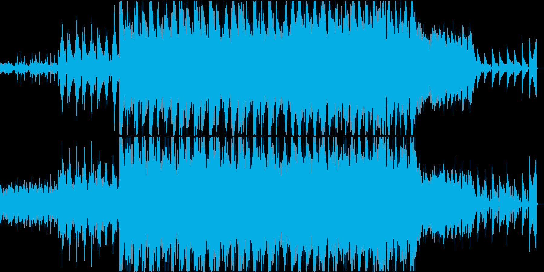 不安にさせるホラー/サスペンス用テーマ曲の再生済みの波形