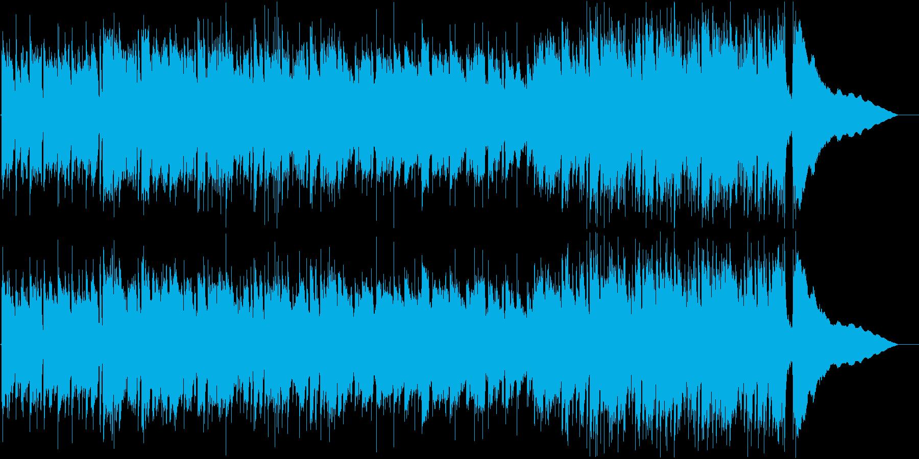 アコギが中心の穏やかな曲_ワンコーラス2の再生済みの波形