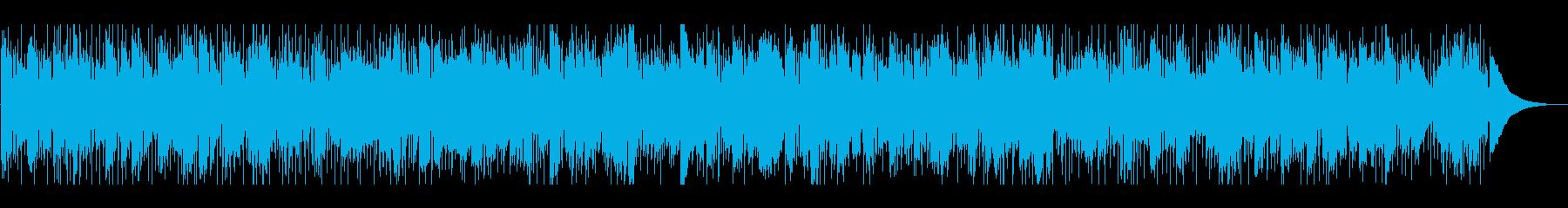 お洒落、モダンな雰囲気のBGMの再生済みの波形