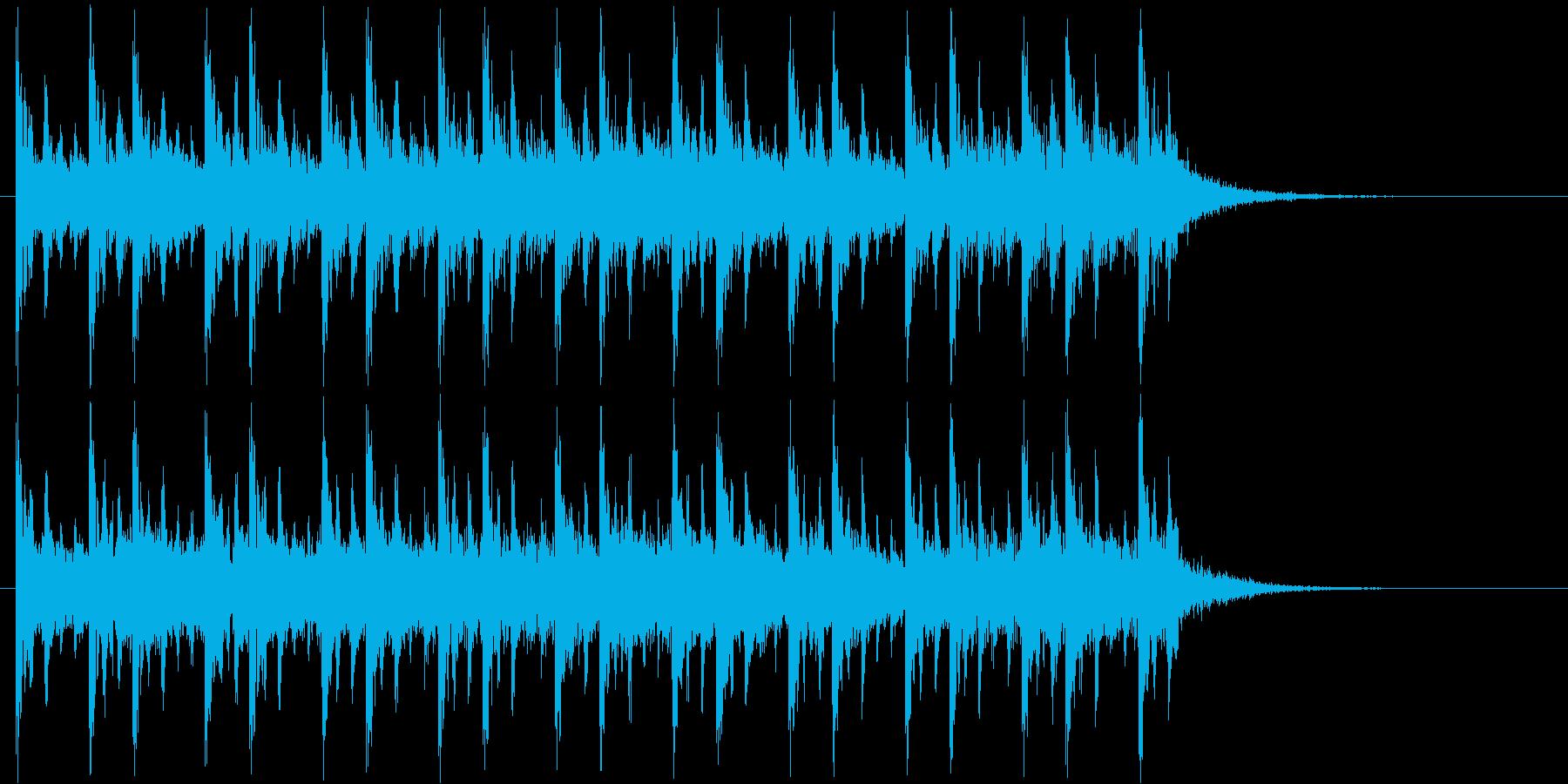 ゲームのバトル風ジングルの再生済みの波形