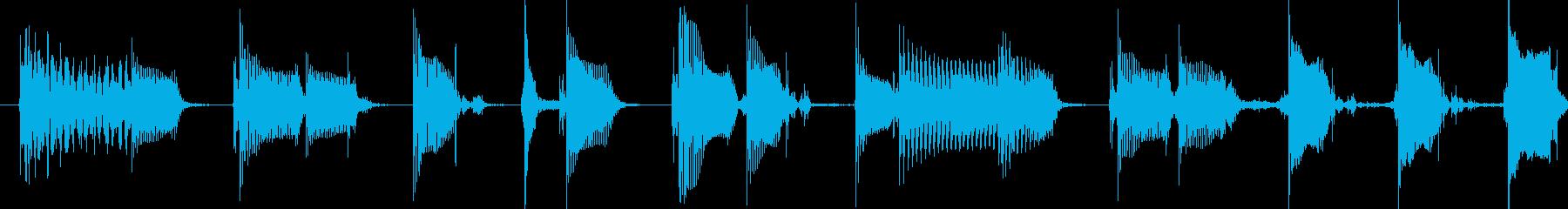 ディストーションギター ジングルの再生済みの波形