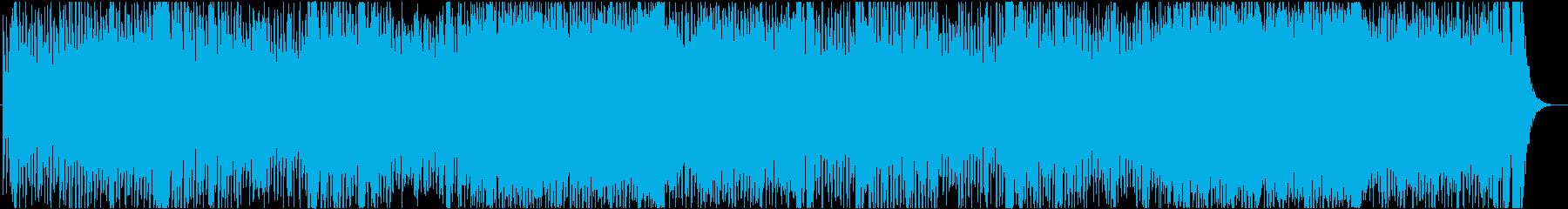 コーラス入りの緊張感ある曲の再生済みの波形