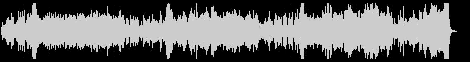 ゲームのバトルシーンの音楽の未再生の波形