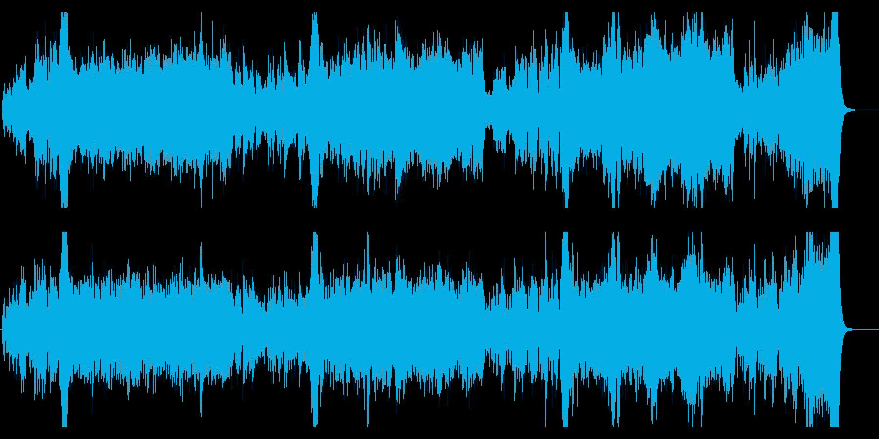 ゲームのバトルシーンの音楽の再生済みの波形
