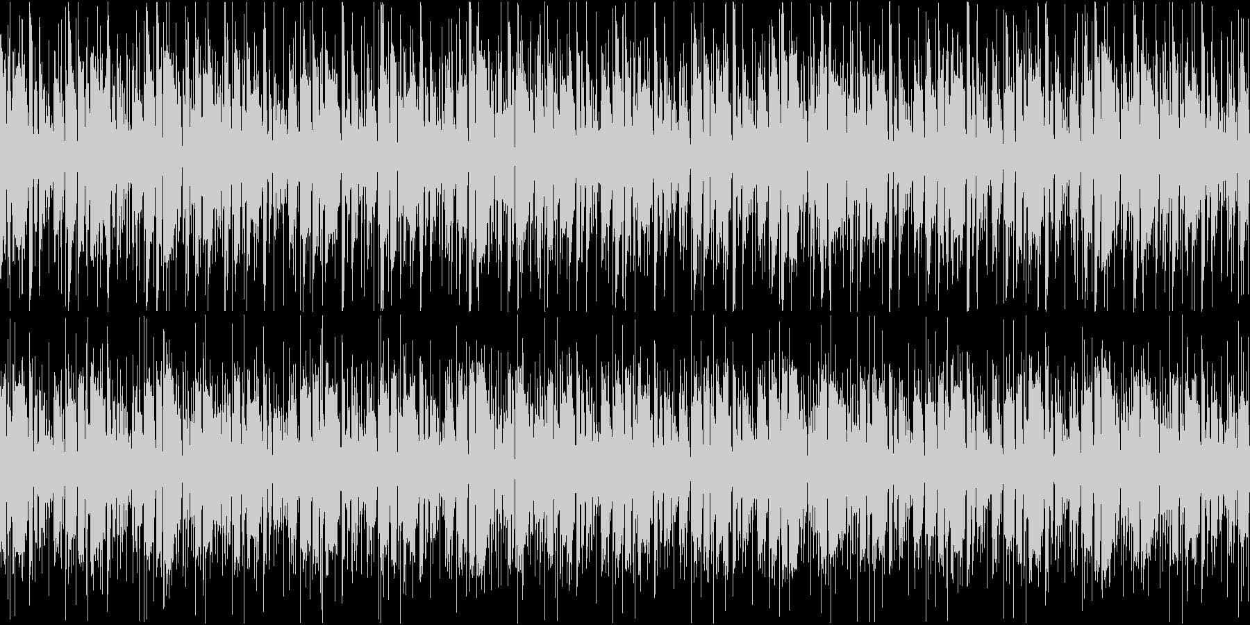 FUNK調のリズミカルカッティングループの未再生の波形