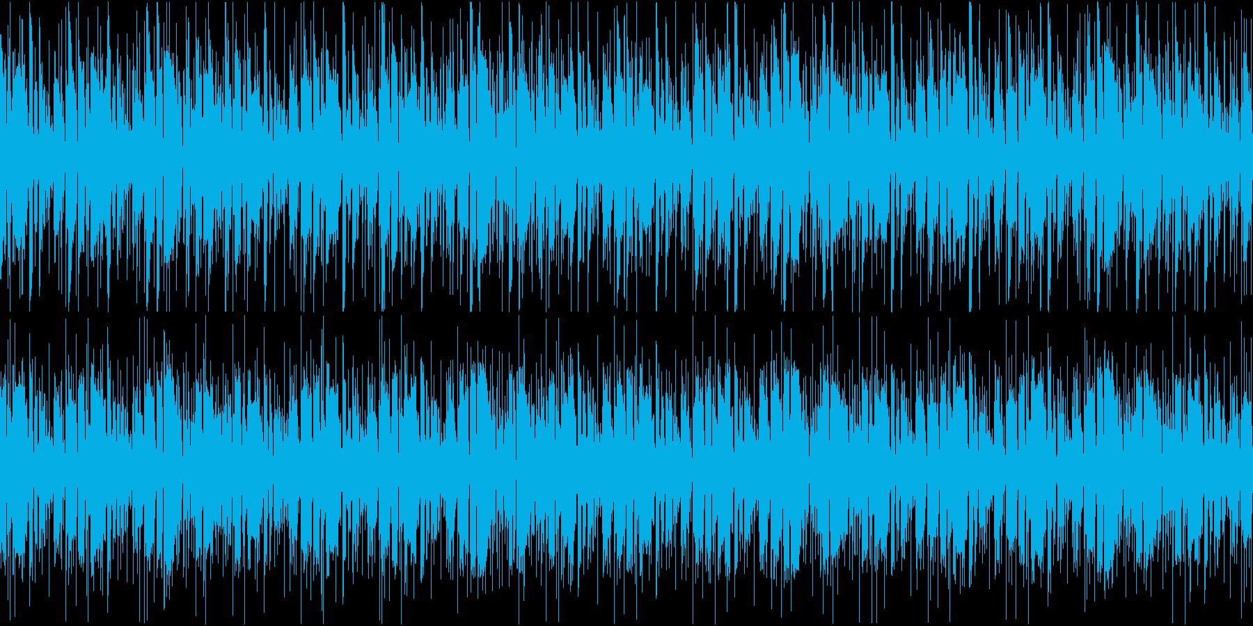 FUNK調のリズミカルカッティングループの再生済みの波形