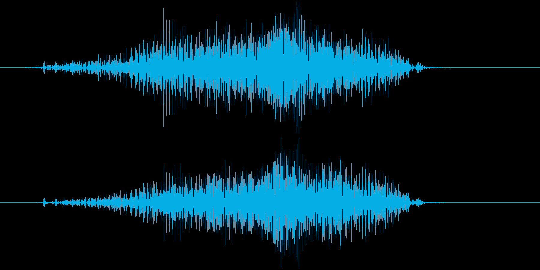 チャック、ジッパー(開閉音) ジィッの再生済みの波形