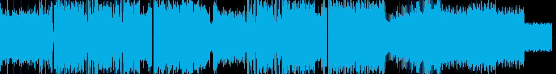 戦闘やバトルシーン用BGM ハードロックの再生済みの波形