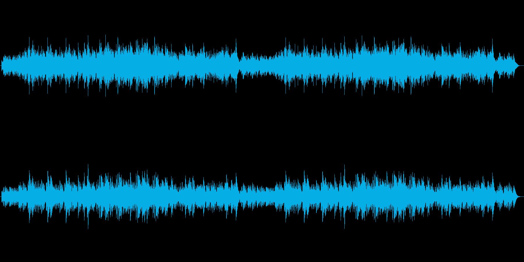 幻想的な森のハープの再生済みの波形