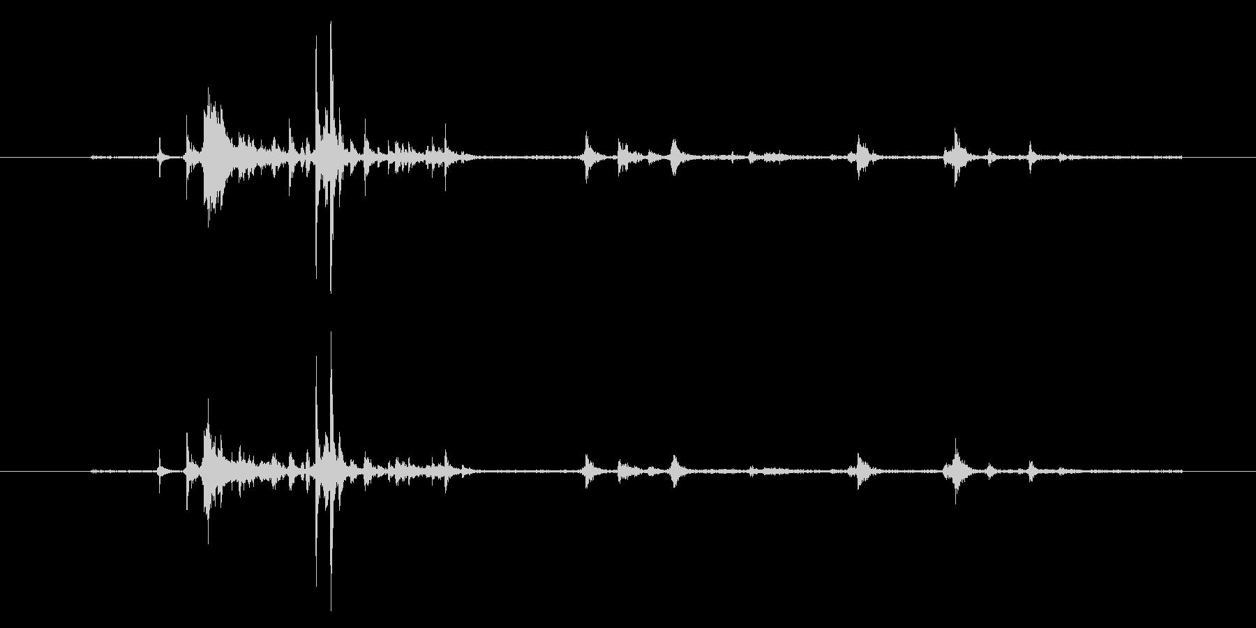 【生音】自販機に小銭を入れる音 (コイ…の未再生の波形