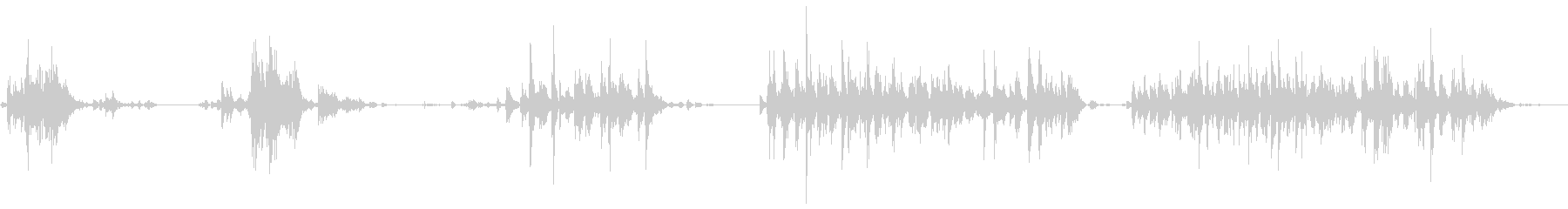 そり鐘:短いジングルの未再生の波形