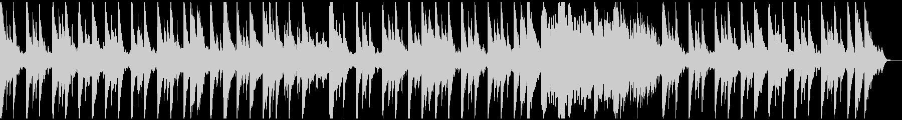 ピアノとシンセのみのシンプルなヒーリングの未再生の波形
